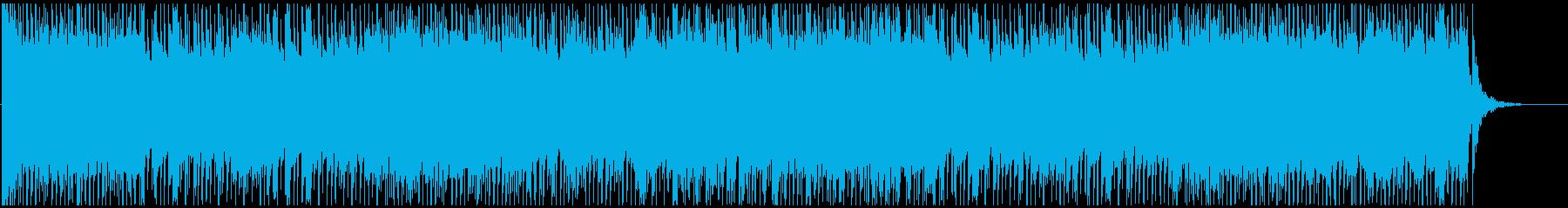 軽快で穏やかなビブラフォンのBGM曲の再生済みの波形