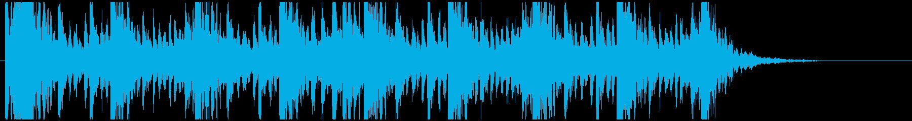 和太鼓のリズム2 残響ありBPM140の再生済みの波形