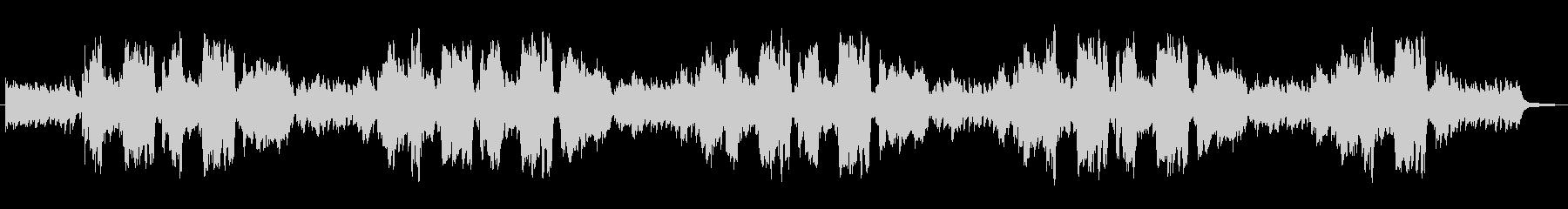 生演奏リコーダーとピアノの爽やかなBGMの未再生の波形