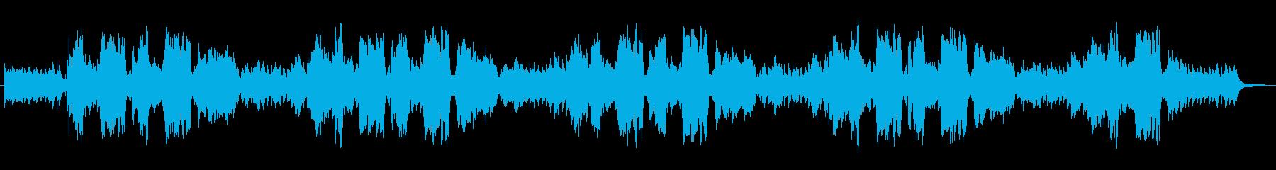 生演奏リコーダーとピアノの爽やかなBGMの再生済みの波形