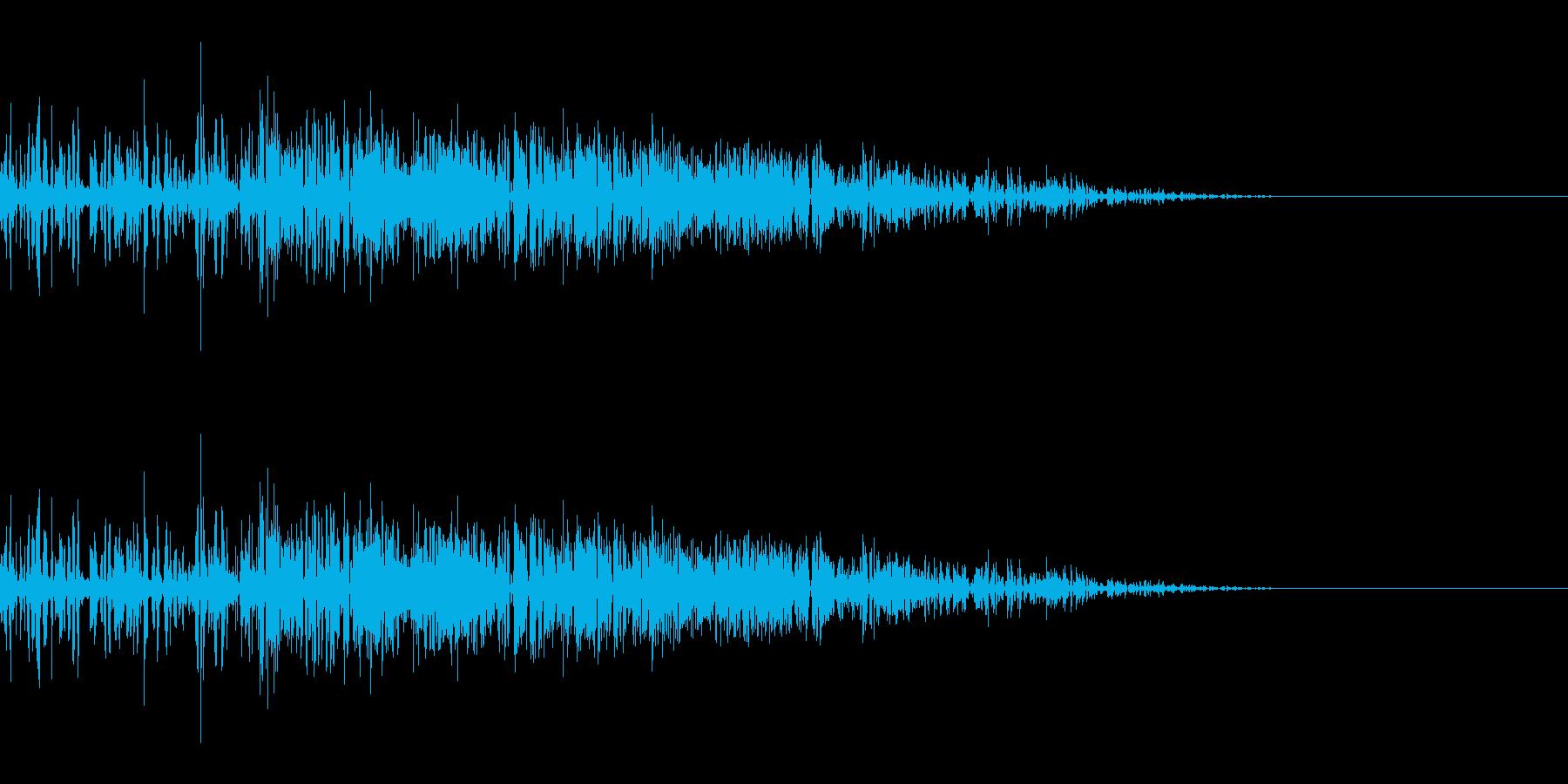 ザクッ(斬撃/ひっかき/剣/爪)の再生済みの波形