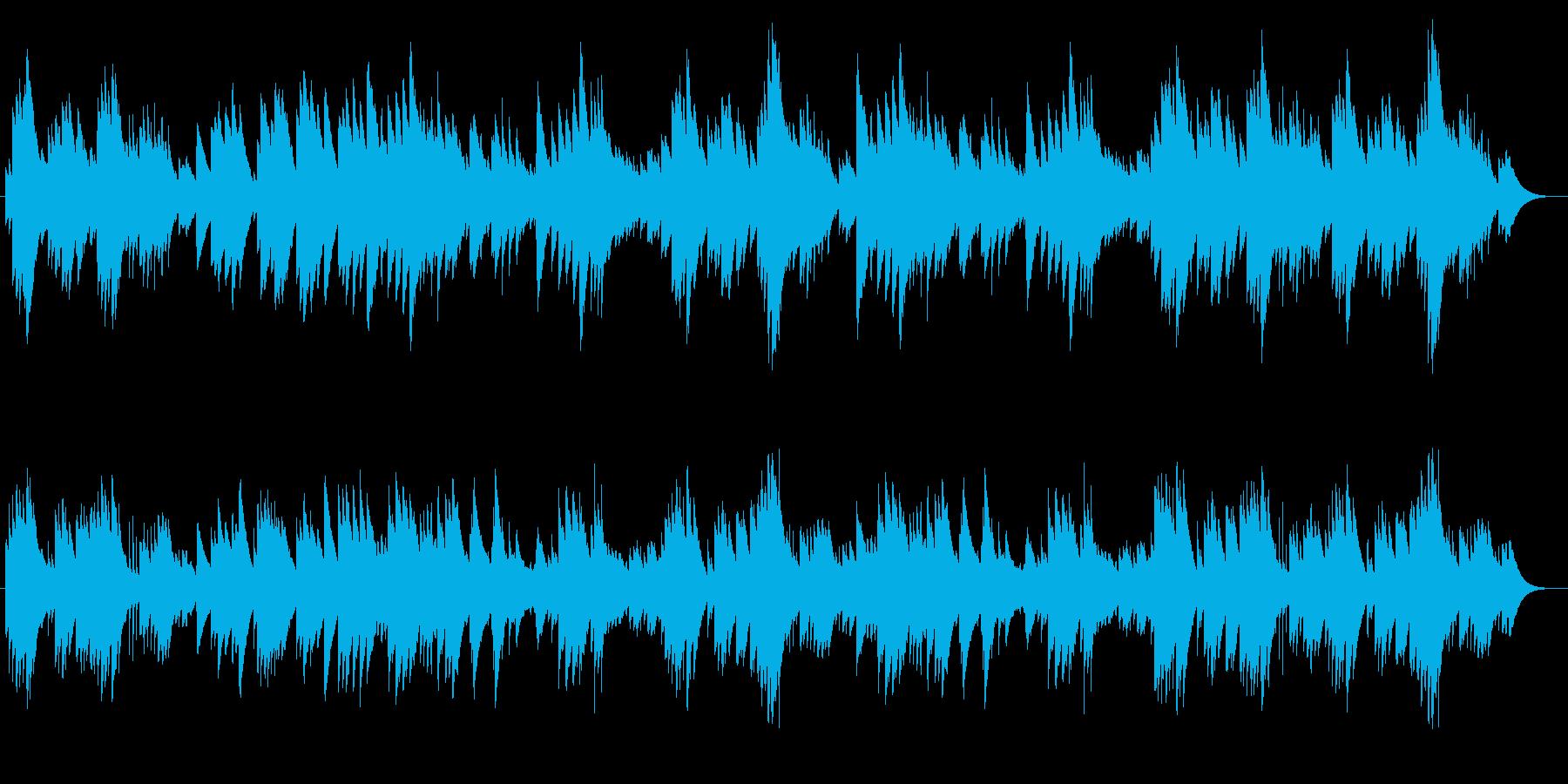静かなオルゴールの音色が特徴のポップスの再生済みの波形