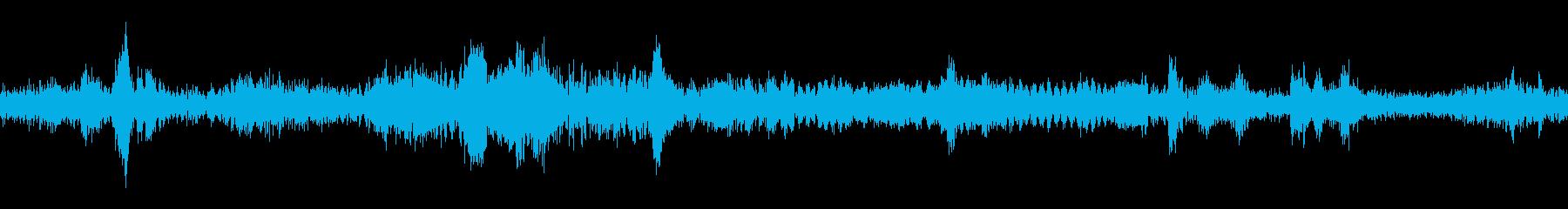 重機で建物(パン工場)を解体する音の再生済みの波形