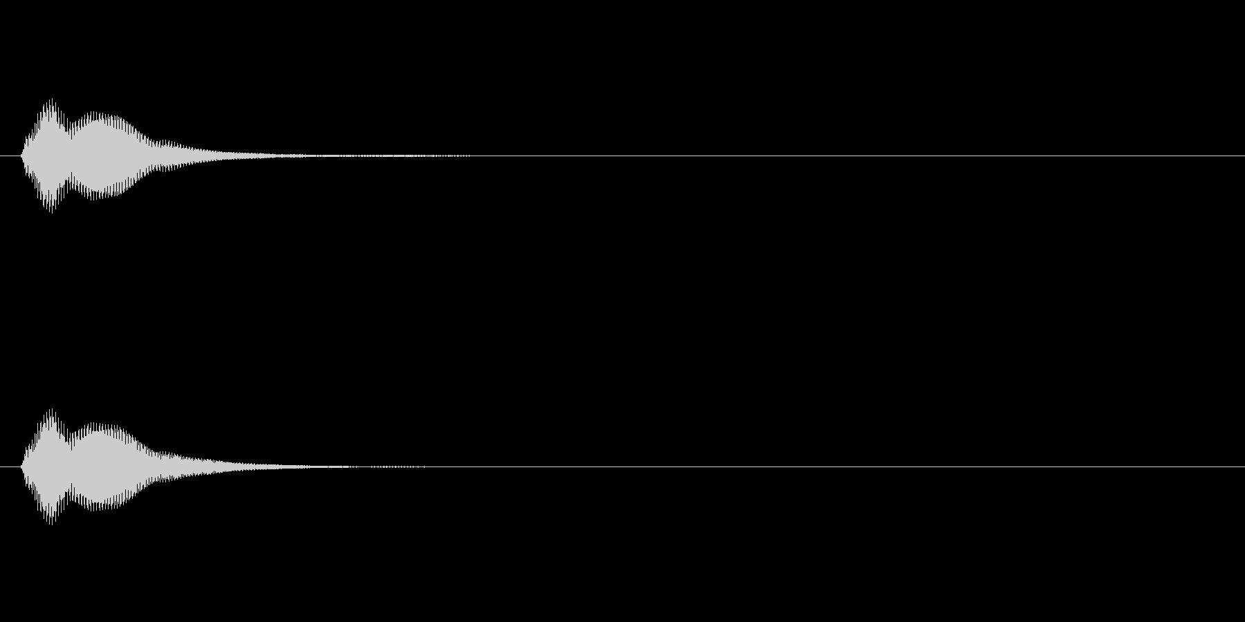 マリンバ風 ボタン音の未再生の波形