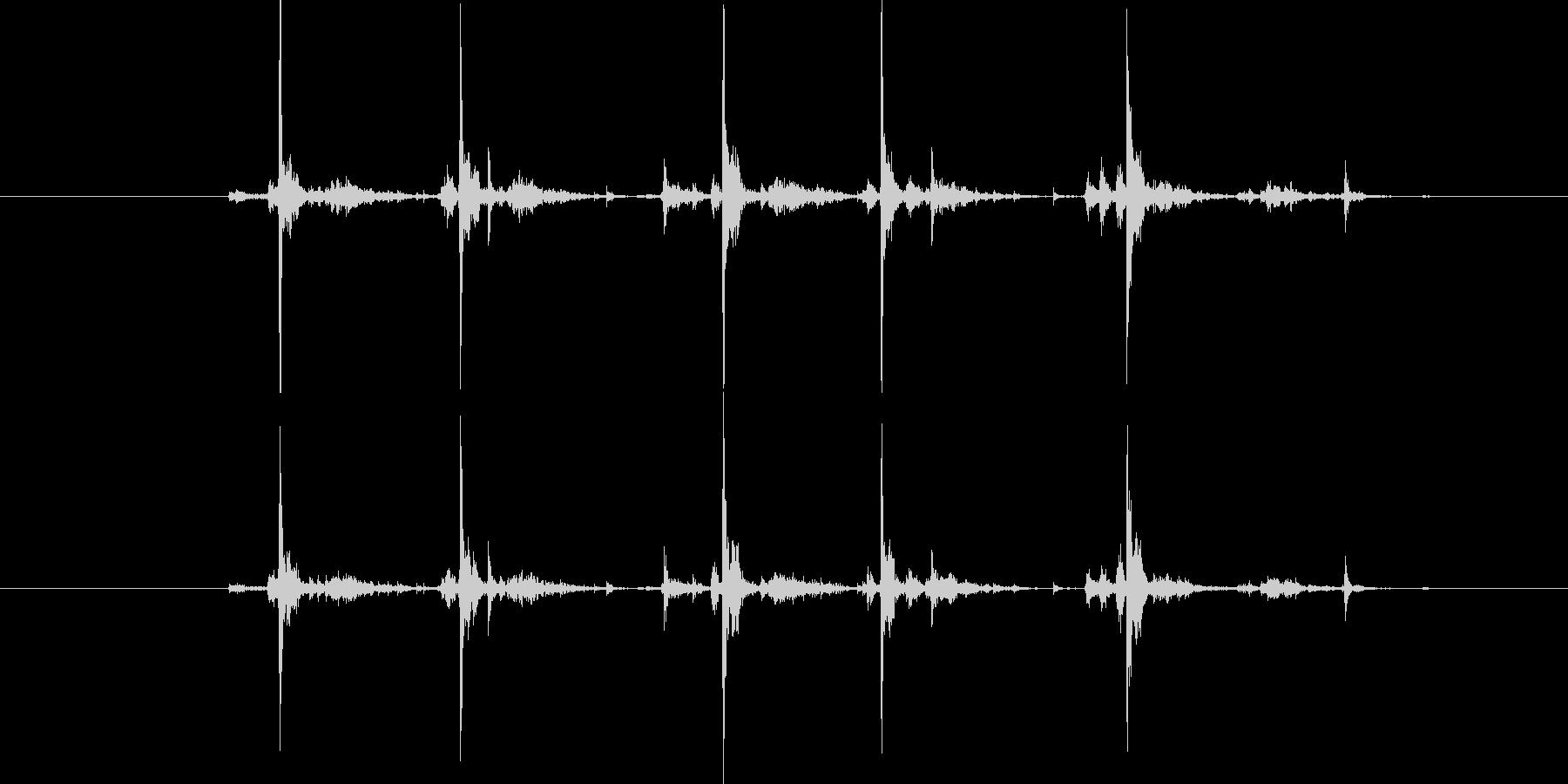 タイプライター5連打の未再生の波形