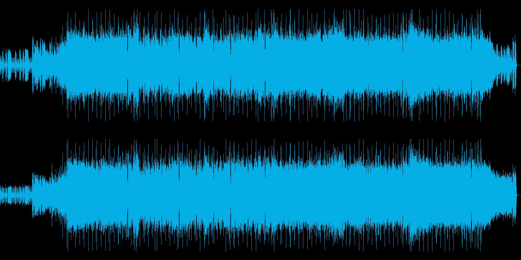 インパクトあるギター旋律のロックポップの再生済みの波形