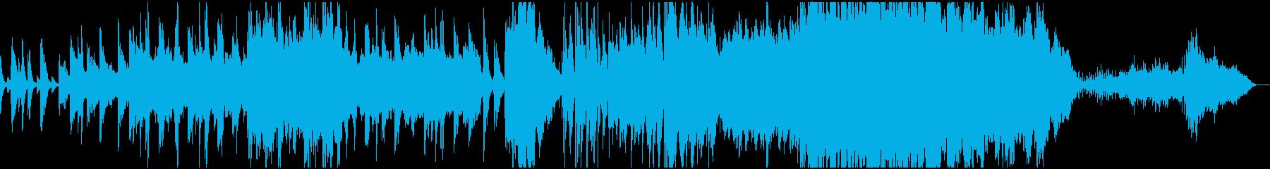 穏やかな映像向きのピアノとストリングスの再生済みの波形