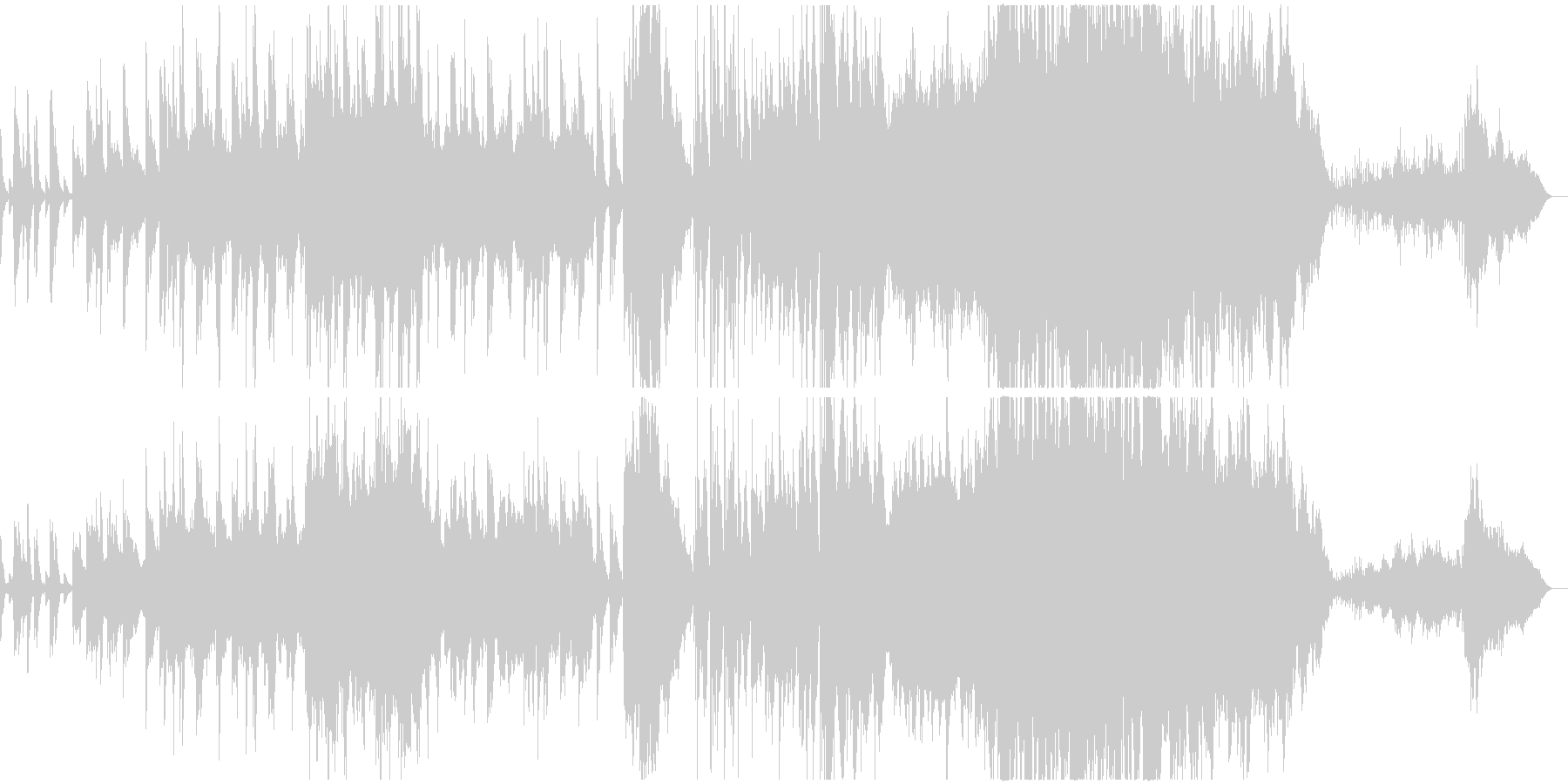 穏やかな映像向きのピアノとストリングスの未再生の波形