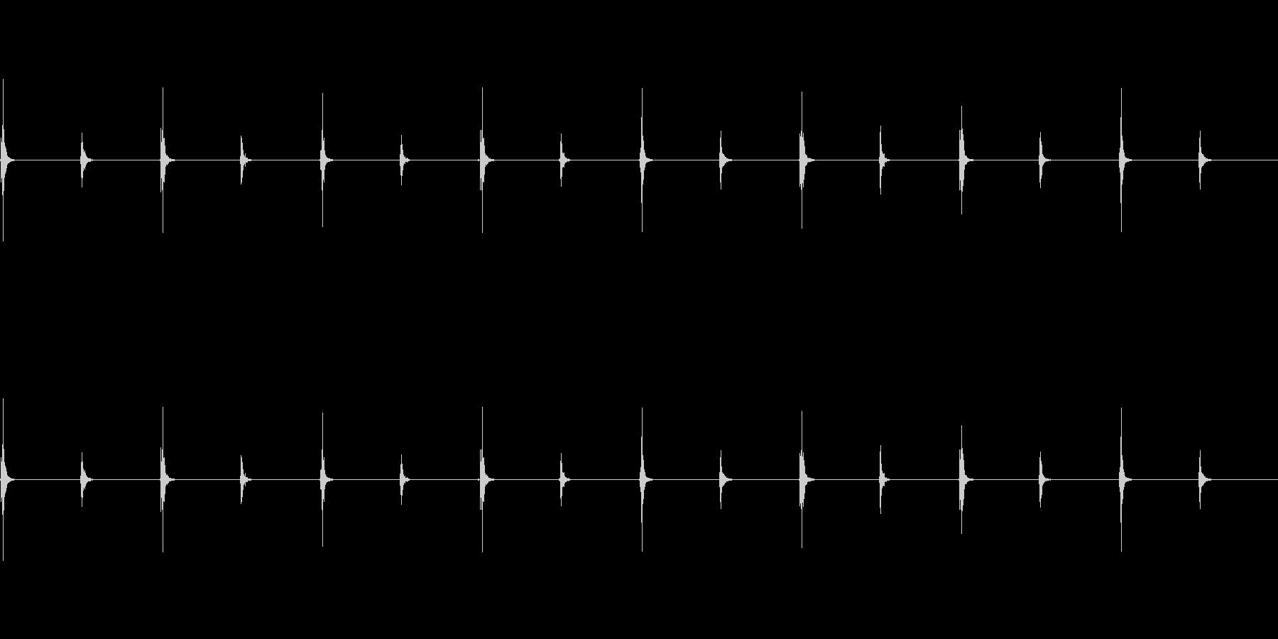 時計の秒針(ループ可)の未再生の波形