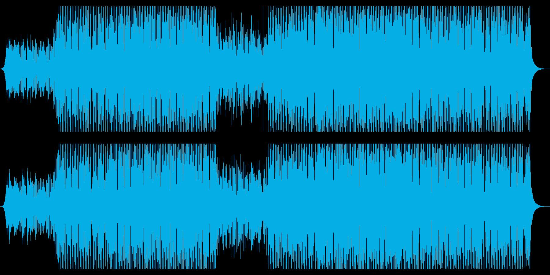 ダンスミュージックの再生済みの波形