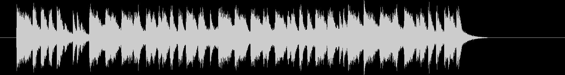 アップテンポのイントロの未再生の波形