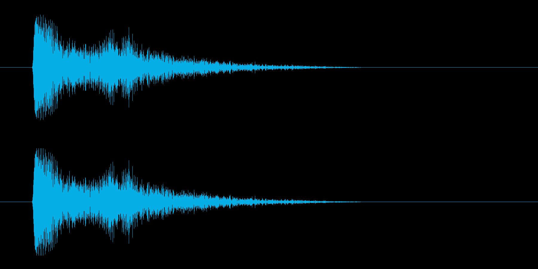 レーザー音-02-3の再生済みの波形