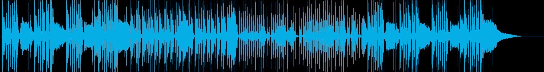 コミカルな日常系劇伴の再生済みの波形