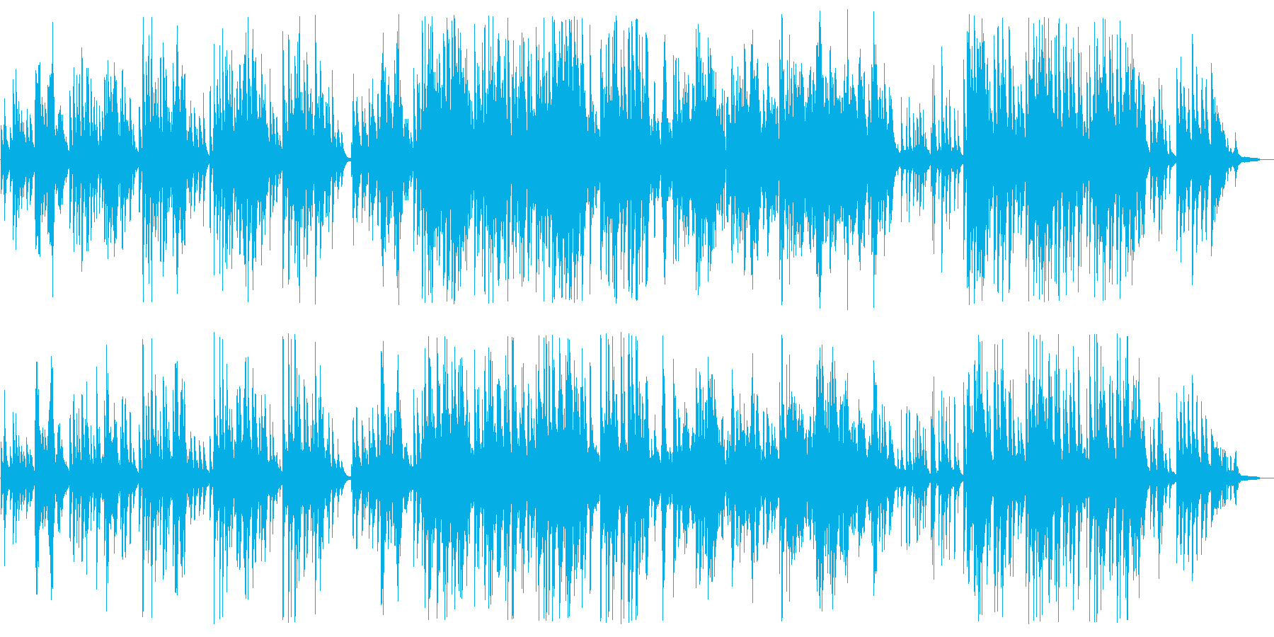Greensleeves (piano)の再生済みの波形