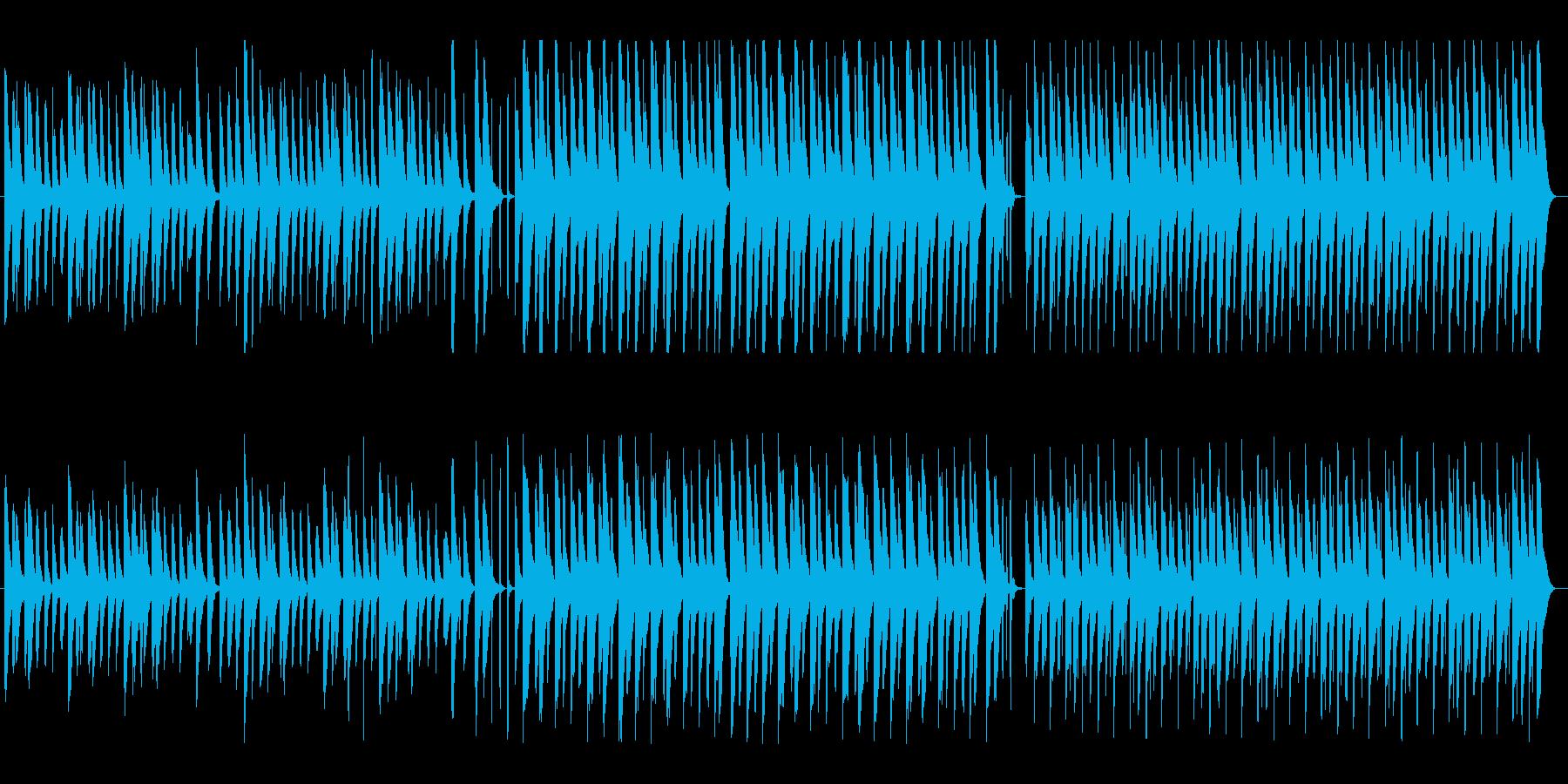 ハッピー&クリーンなマリンバメロディの再生済みの波形