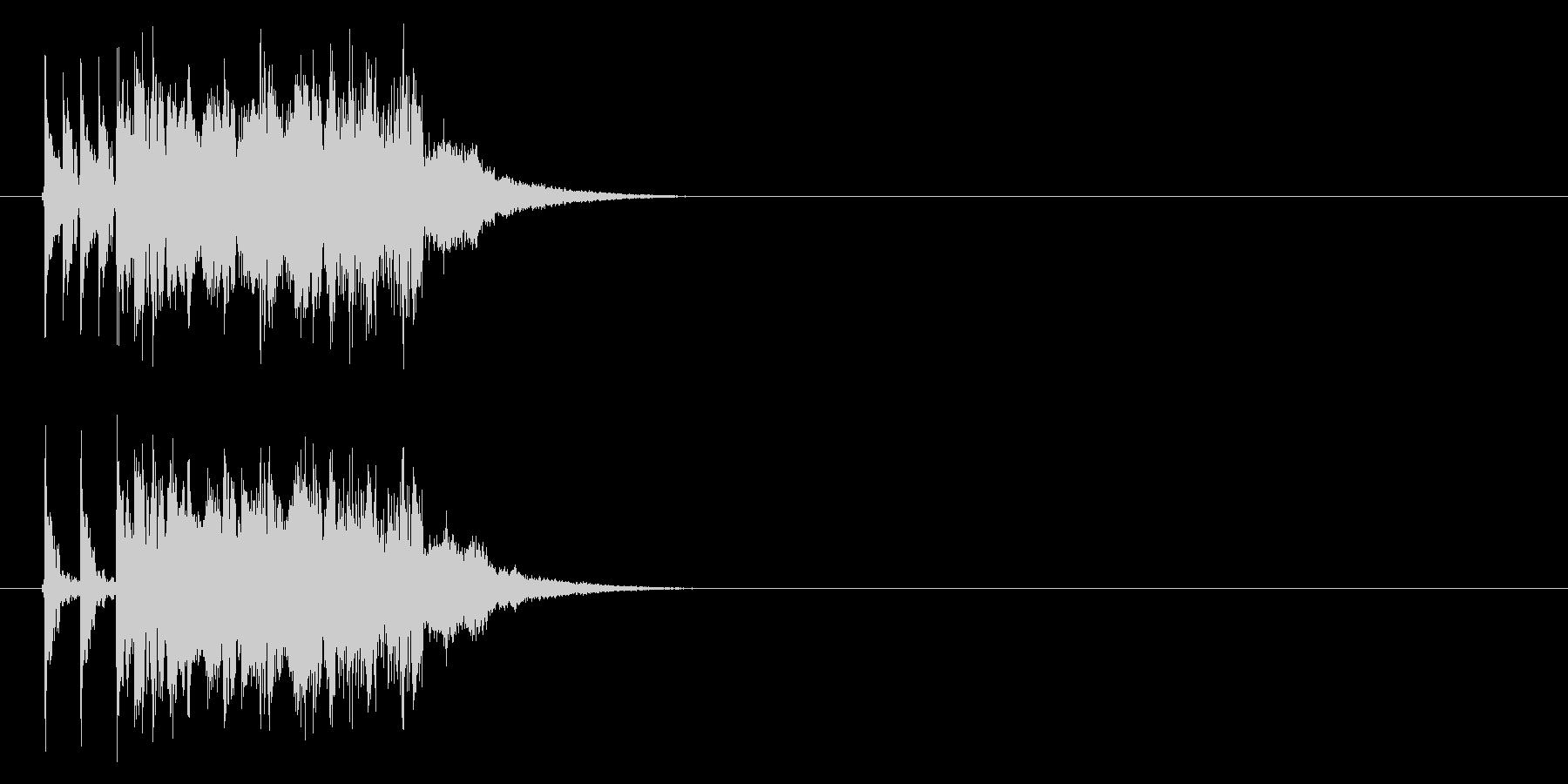 打ち込み系エレクトリック・ファンクの未再生の波形
