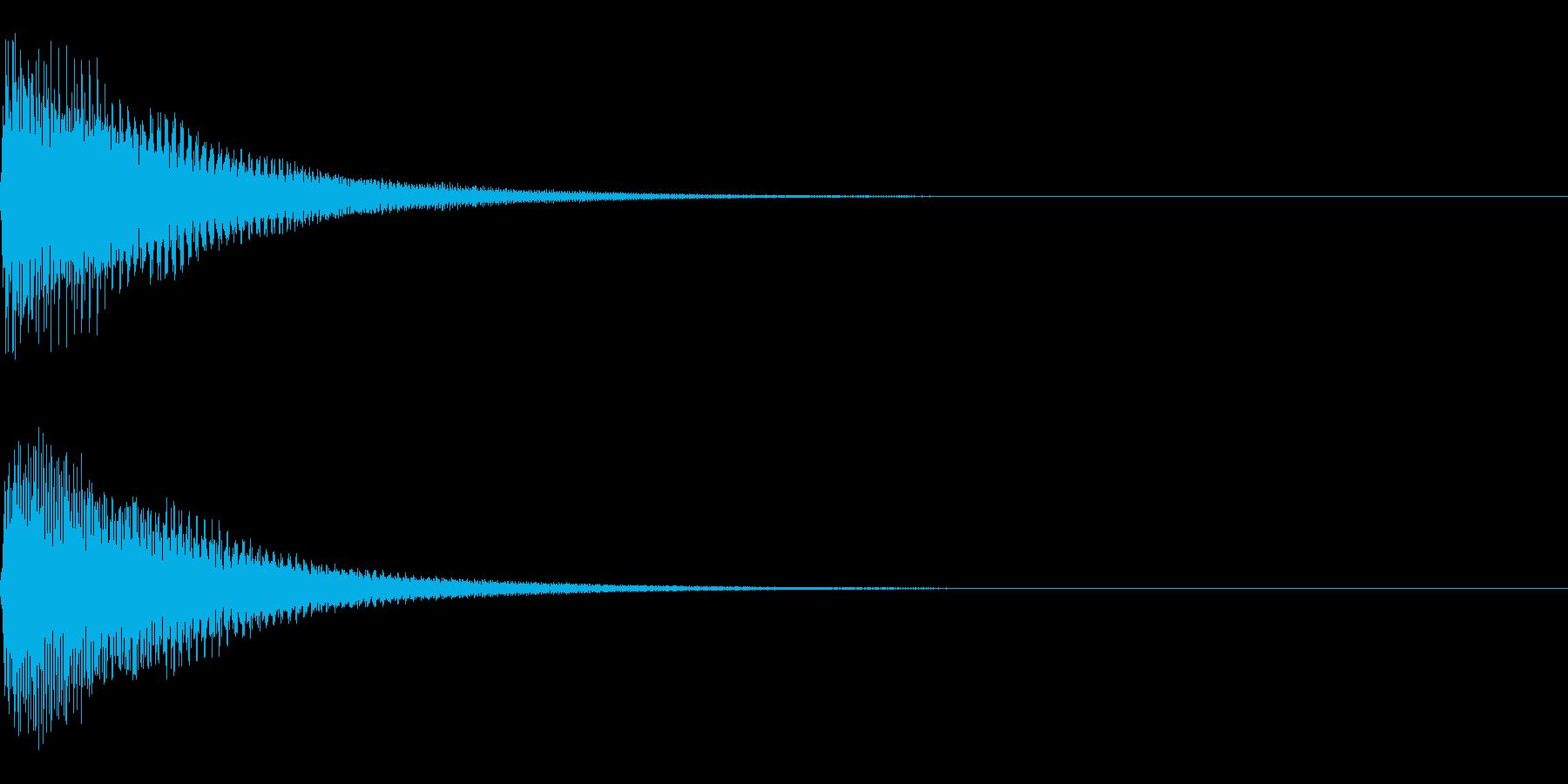 ピアノのコードを鳴らしたサウンドの再生済みの波形