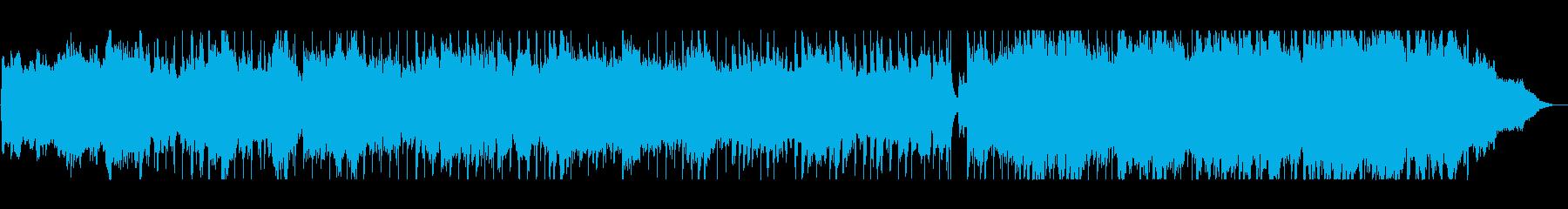 明るく広がりのある壮大なシンセサイザー曲の再生済みの波形
