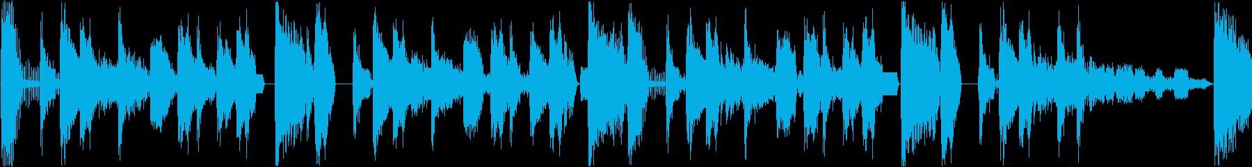 気怠い雰囲気のビートのジングル_ループの再生済みの波形