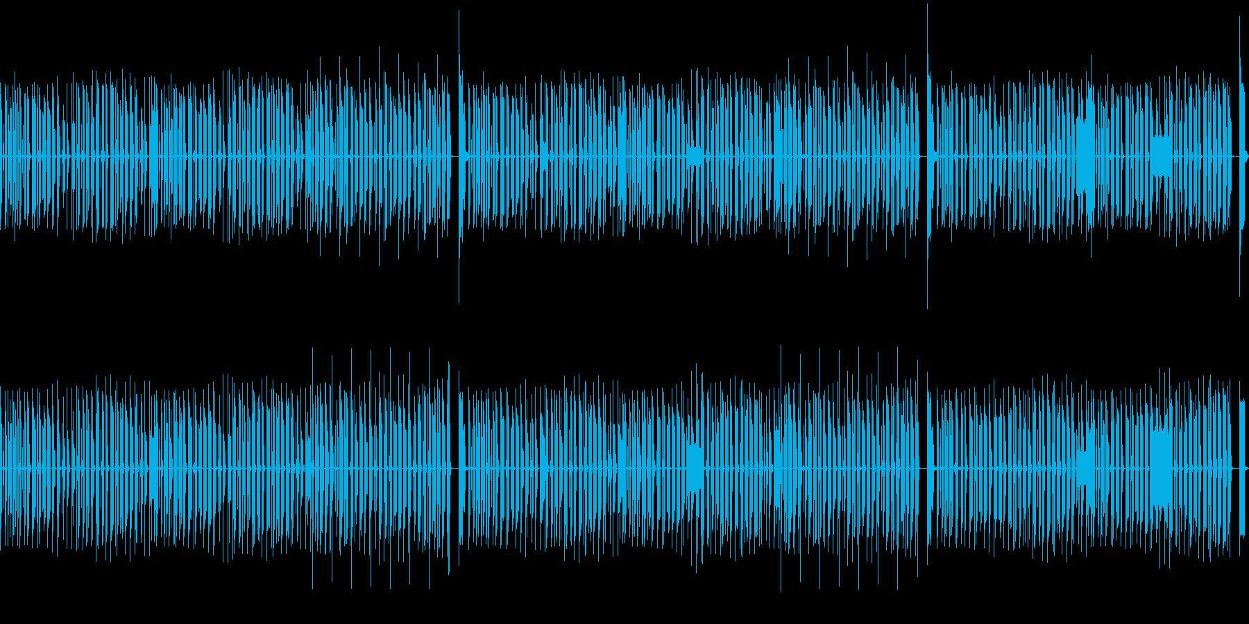 のんびりまったりしたシーンにあうBGMの再生済みの波形