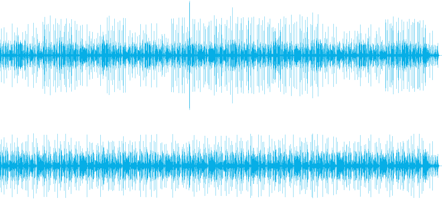 スローなファンクの再生済みの波形