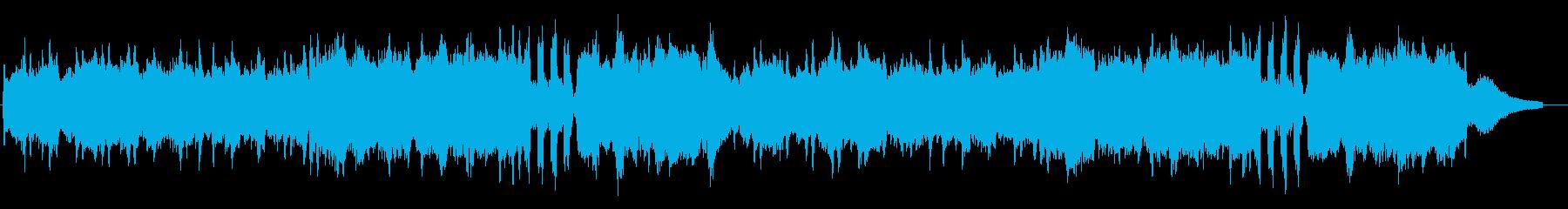 爽やかな自然をイメージしたストリングス曲の再生済みの波形
