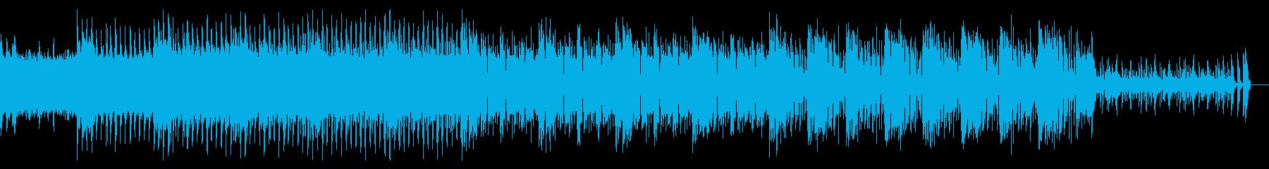 捻れて歪んだアナログサウンドスケープの再生済みの波形
