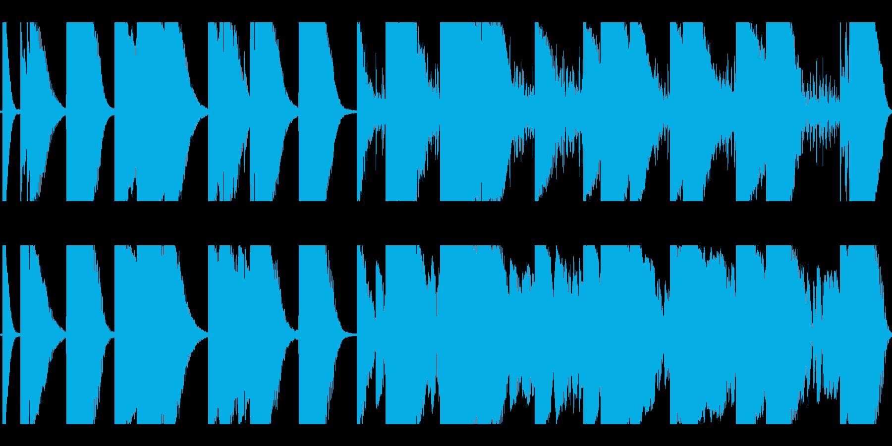 恐怖と不安しか感じさせないホラーBGMの再生済みの波形