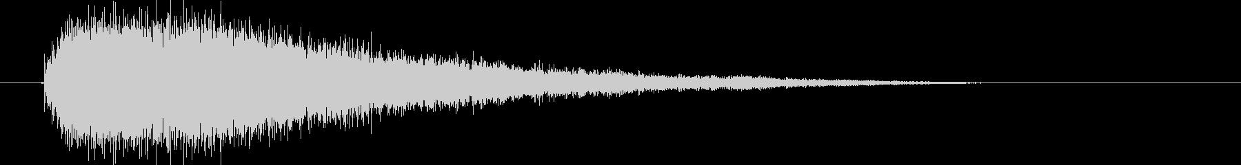 ジャーーーン(銅鑼の音)の未再生の波形