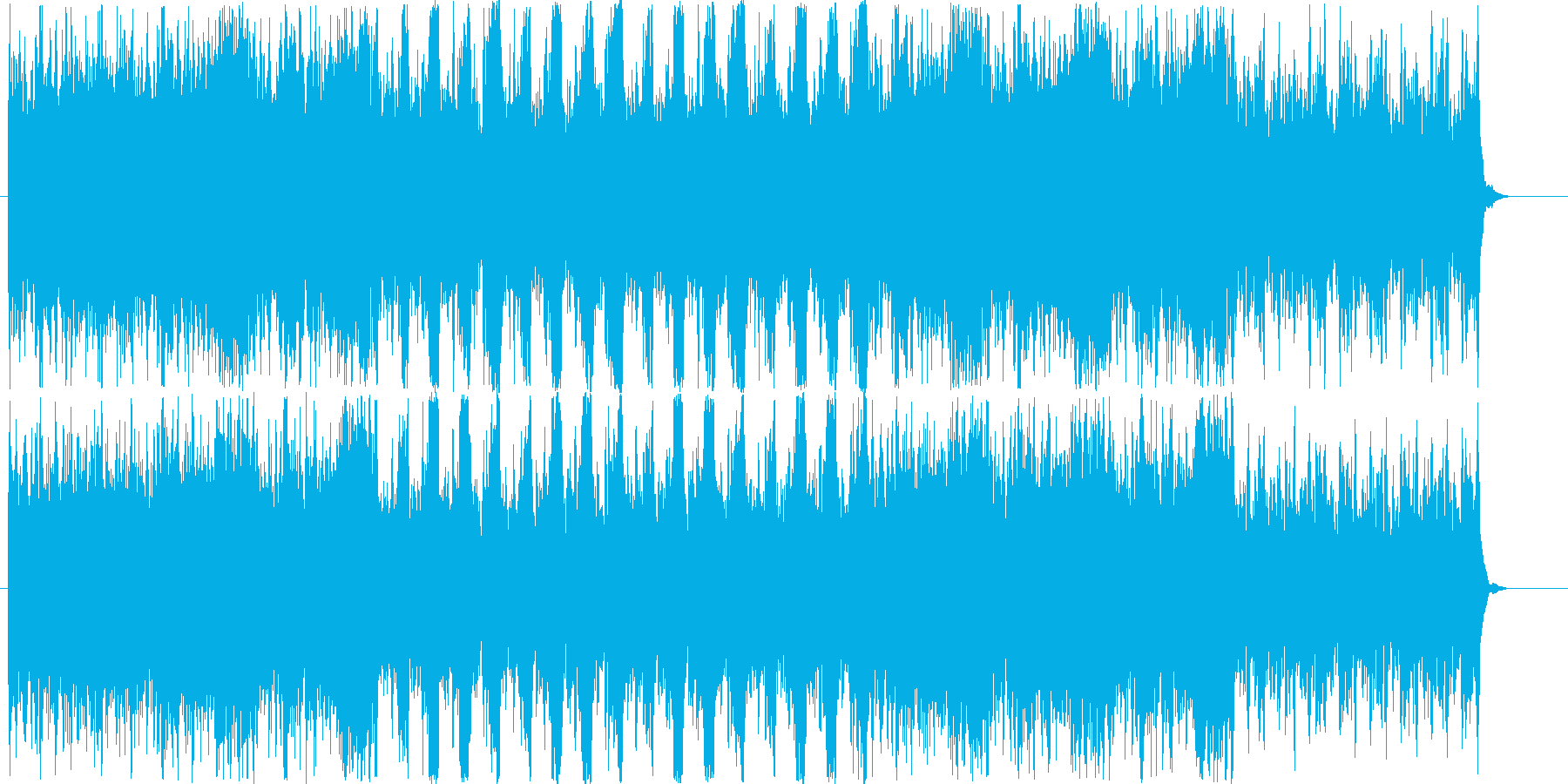 ホラーゲーム 逃走用BGMの再生済みの波形