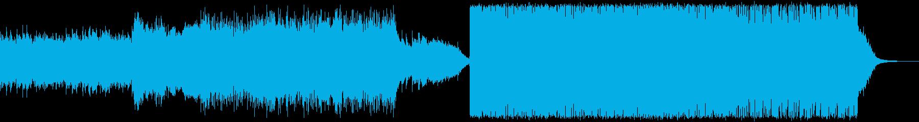 バイオリン、ドラムンベース、テクスチャーの再生済みの波形