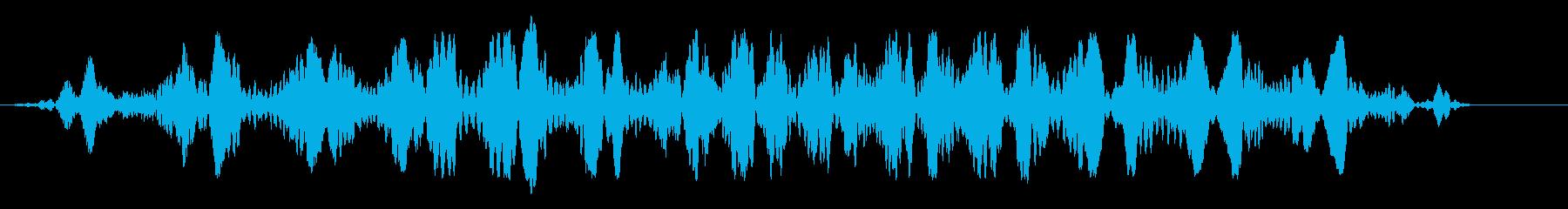丸みのあるコミカルな飛行音・水中の音の再生済みの波形