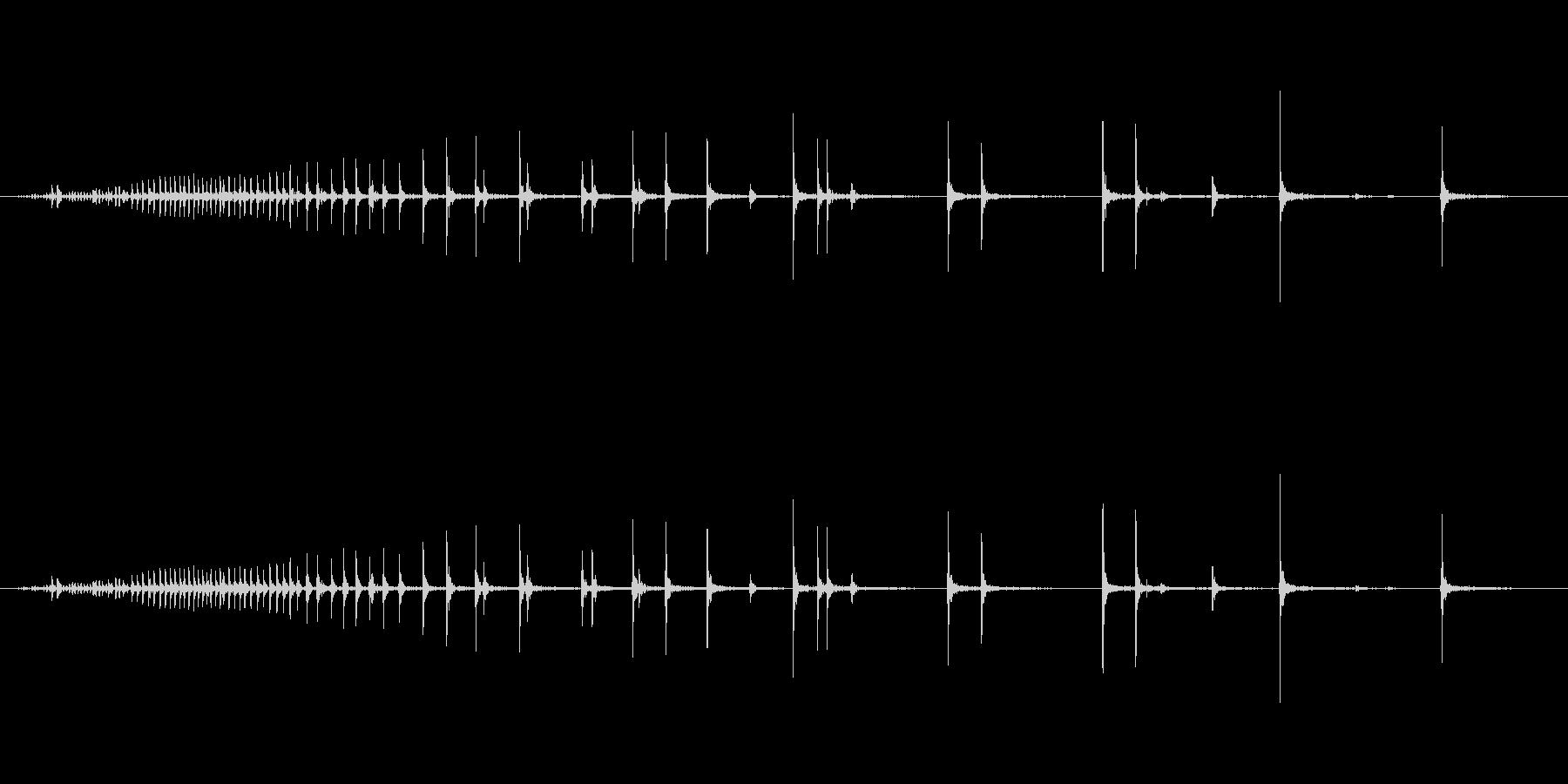 【生録音】軋む音 ギーー 1の未再生の波形