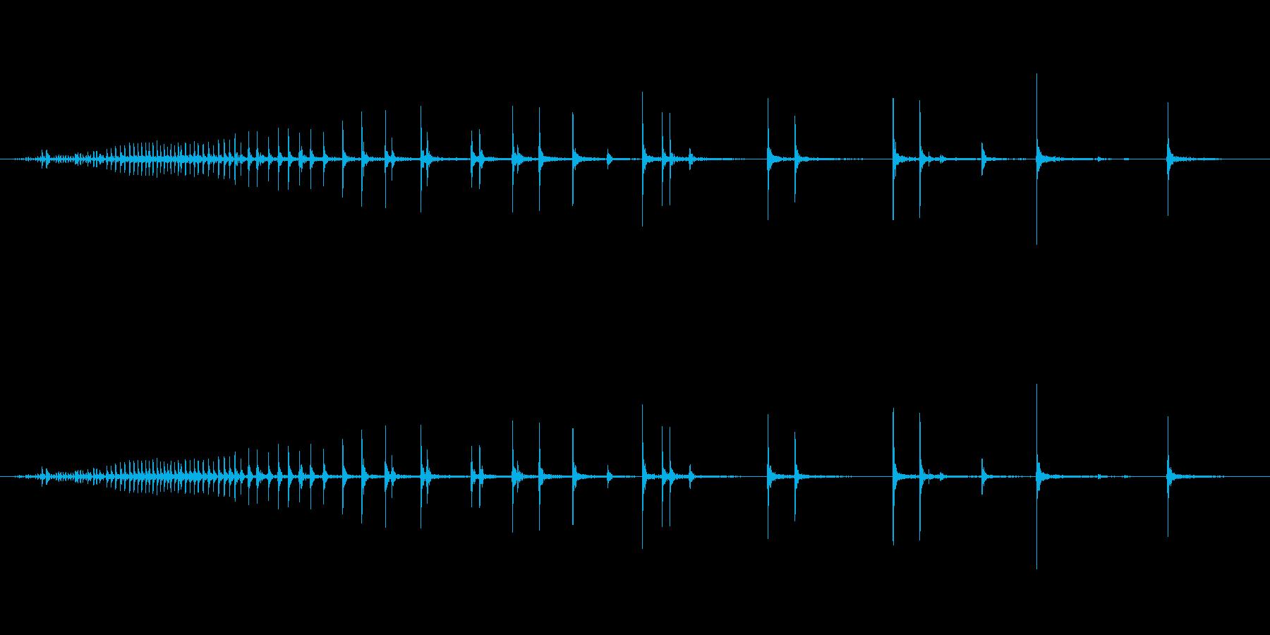 【生録音】軋む音 ギーー 1の再生済みの波形