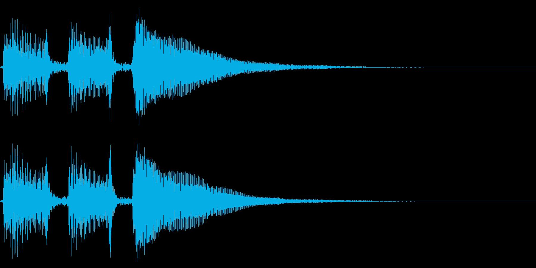 アコギ生音のジングル/元気2の再生済みの波形
