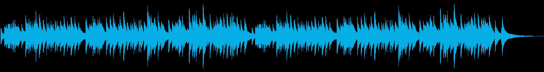クリスマスおめでとうシンプルなピアノソロの再生済みの波形