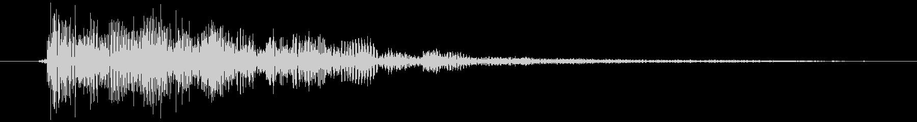 エラー音的な「ビョン」の未再生の波形