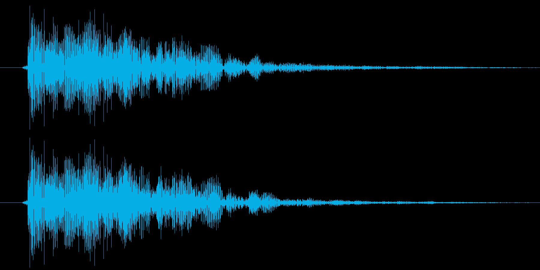 エラー音的な「ビョン」の再生済みの波形