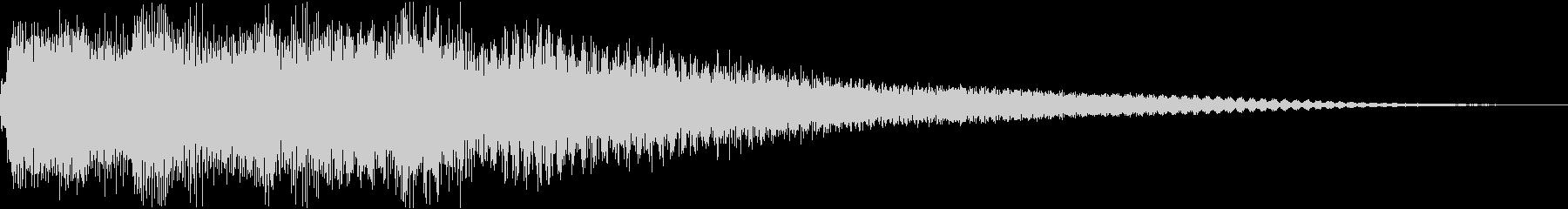 正解の音(ベルの優雅な音色)ピンポン×2の未再生の波形