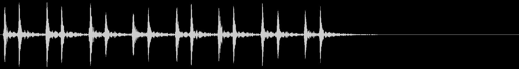 心臓 鼓動 ドクン 心音 残響 速さ75の未再生の波形