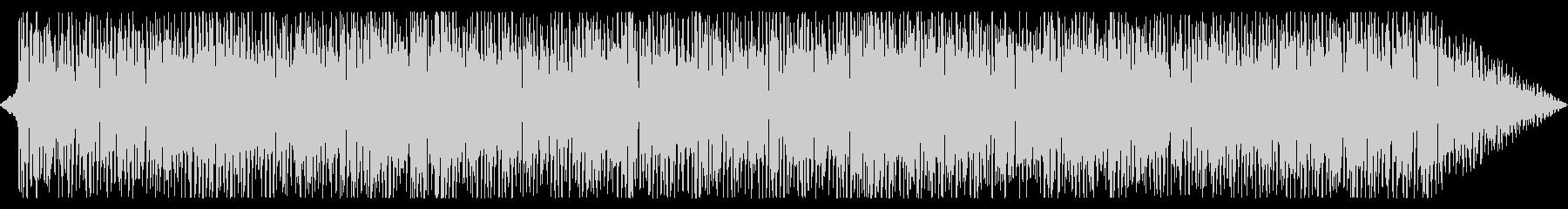シンプルでポジティブ感のあるテクノ曲の未再生の波形