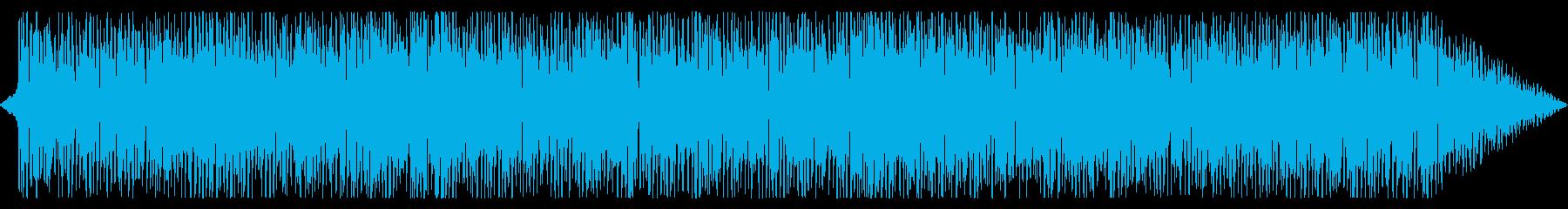 シンプルでポジティブ感のあるテクノ曲の再生済みの波形