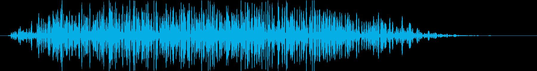 重い物を動かす時の音(ゴゴゴ…)の再生済みの波形