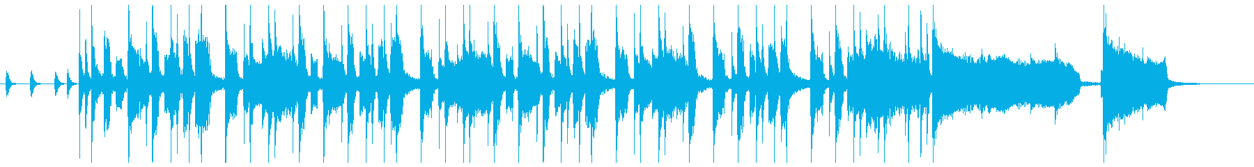 ファンキーなクラビネットの元気が出る曲の再生済みの波形