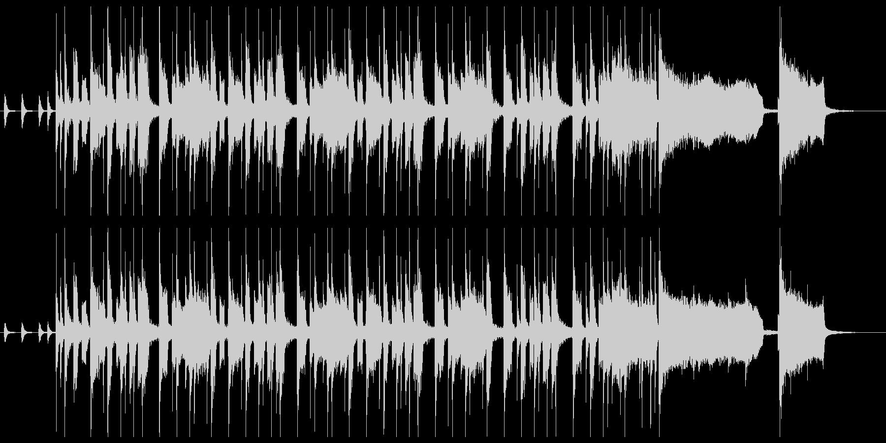 ファンキーなクラビネットの元気が出る曲の未再生の波形
