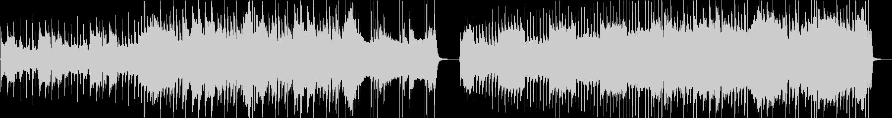 脈動する低音の安定した溝付きドラム...の未再生の波形