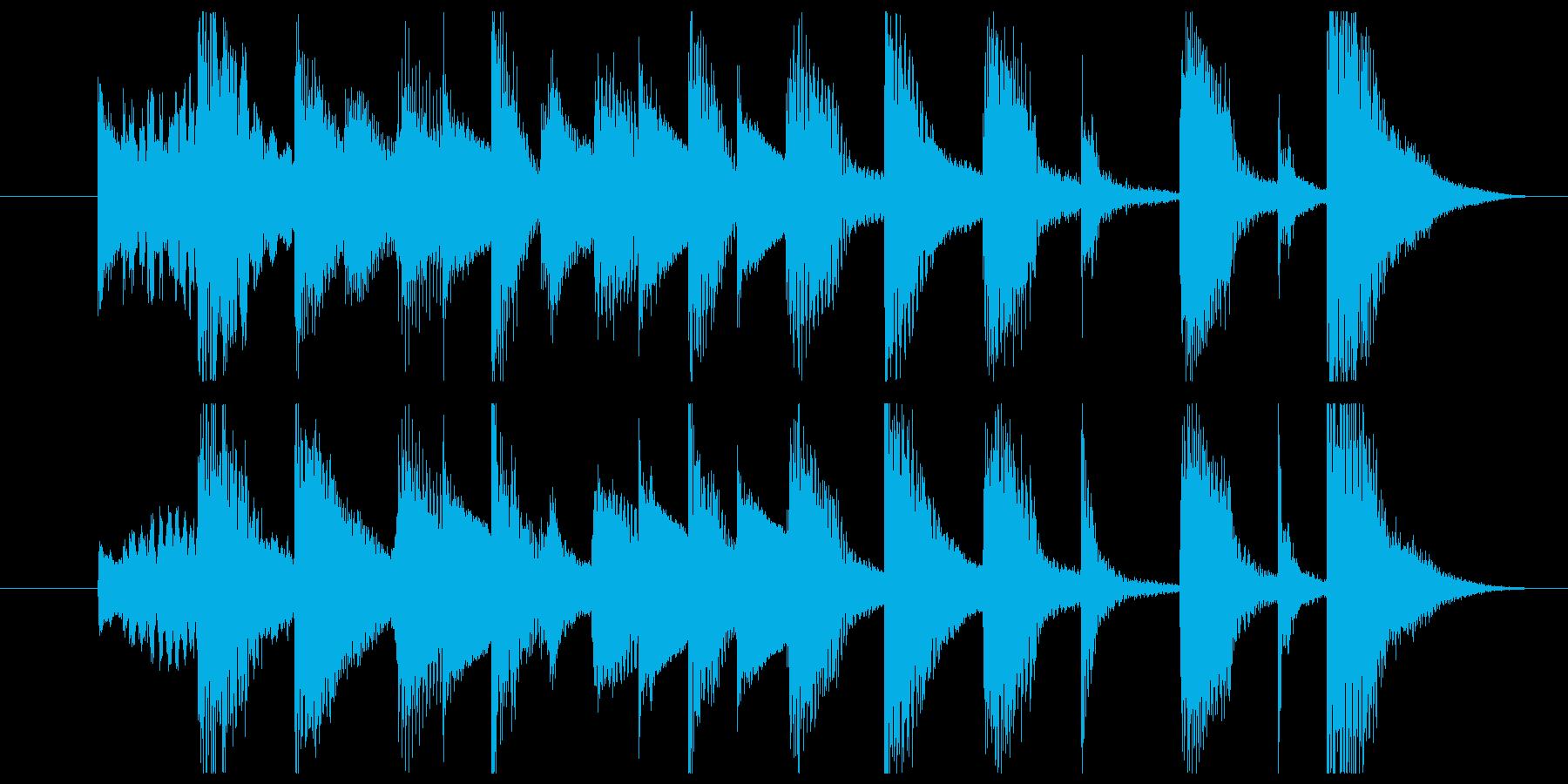 かわいいキャッチーなジングルに最適の再生済みの波形