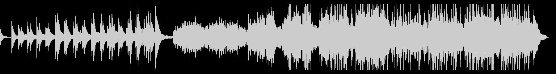 静かに始まりピアノが重なっていく感動曲の未再生の波形