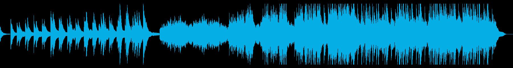 静かに始まりピアノが重なっていく感動曲の再生済みの波形