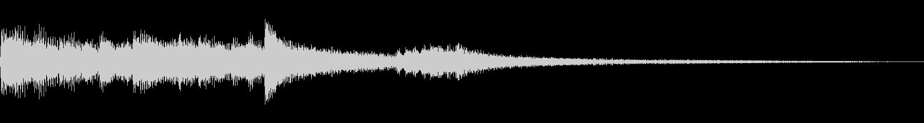サウンドロゴ・流麗・優雅・高級感・ピアノの未再生の波形